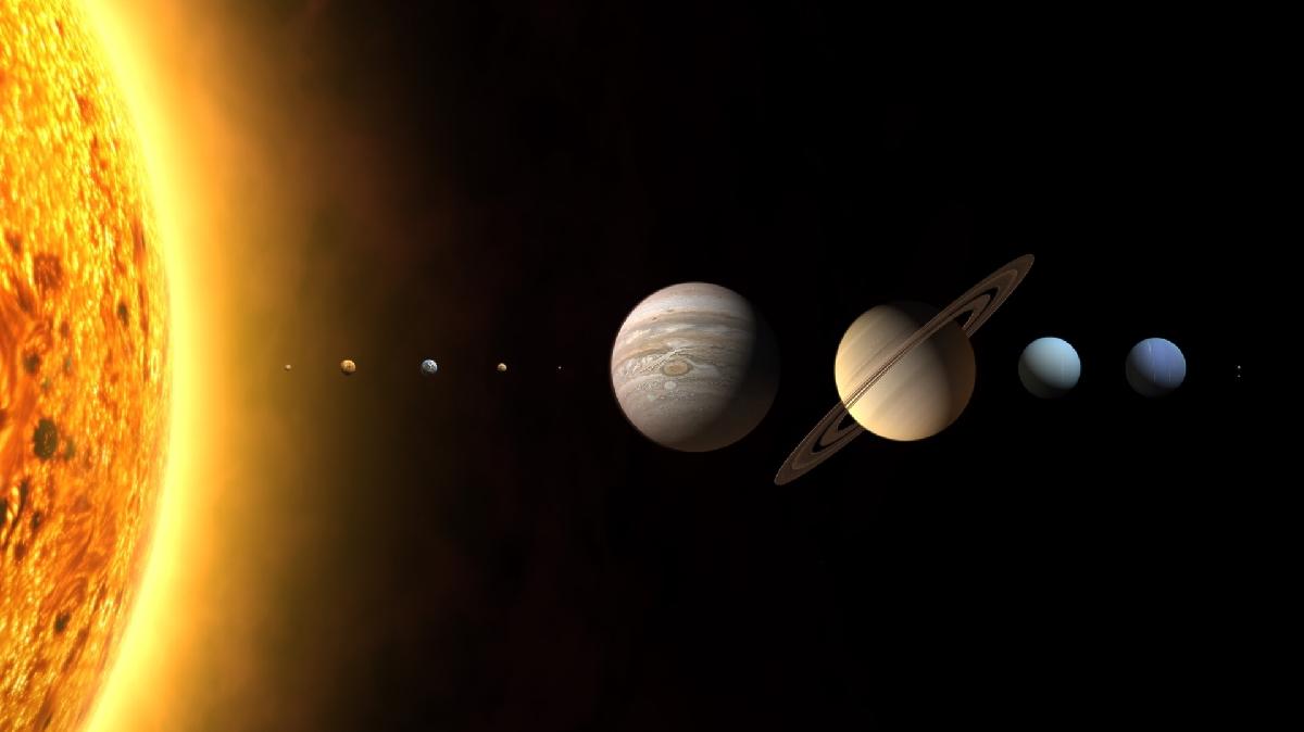 heelal fotos met planeten